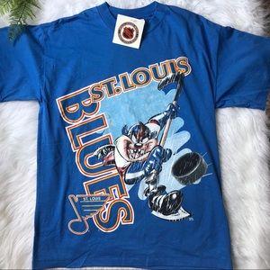 [NHL] St Louis Blues Vtg Taz Hockey Shirt NWT